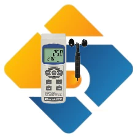 Lutron AM-4257SD Cup Anemometer with Data Recorder