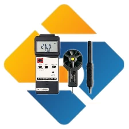 Lutron AM-4205A Anemometer + Humidity + Type K Temperature