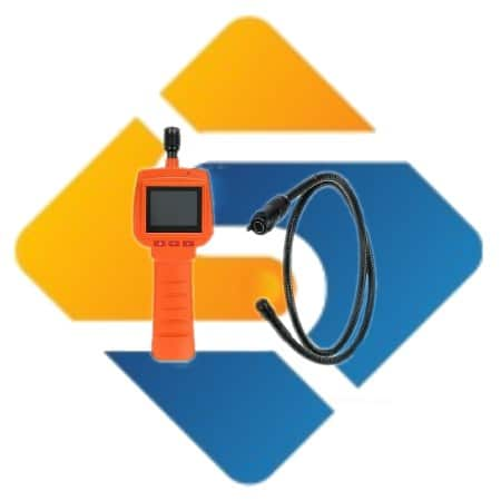 """Waterproof Endoscope Inspection Camera 3MP 2.4"""" Screen Video 1m cable"""