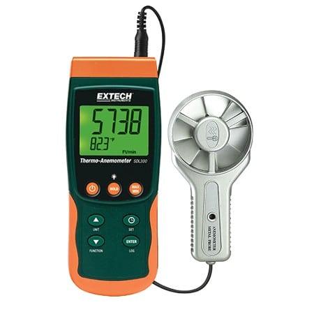 Extech SDL300 Metal Vane Thermo-Anemometer/Datalogger