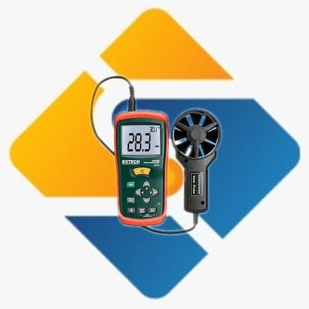 Extech AN100 CFM/CMM Mini Thermo-Anemometer