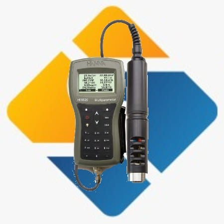 Hanna HI-9829 Multiparameter pH/ISE/EC/DO/Turbidity Waterproof Meter with GPS option