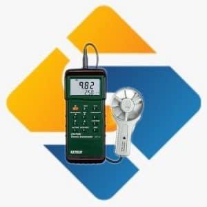 Extech 407113 Heavy Duty CFM Metal Vane Anemometer