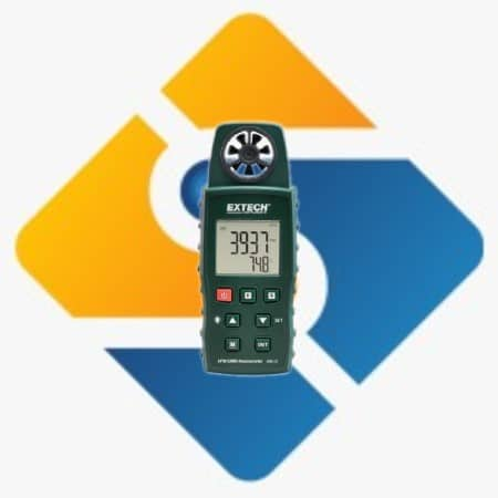 Extech AN510 CMM/CFM Anemometer + Type K