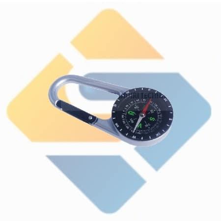 Kompas Carabiner Keychain Army Outdoor Survival