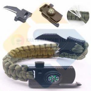 Survival Bracelet Compas 3 in 1 Gelang Tangan Survival Army