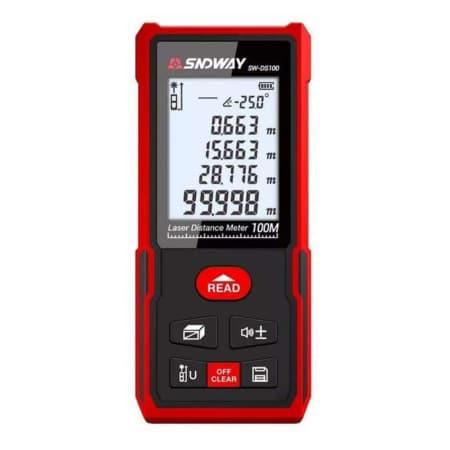 Sndway Meteran Digital 100 Meter SW-DS100 New Version Electronic Level