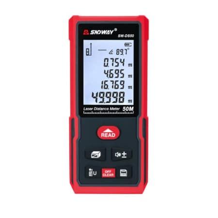 Sndway Meteran Digital 50 Meter SW-DS50 New Version Electronic Level
