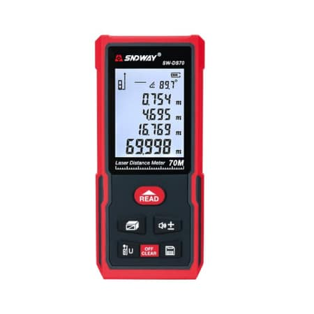 Sndway Meteran Digital 70 Meter SW-DS70 New Version Electronic Level