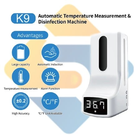 K9 Pro 2 in1 Automatic Temperature with Hand Sanitizer