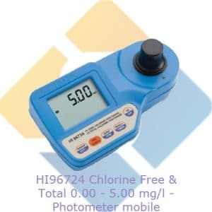 Hanna HI96724 Free and Total Chlorine Portable Photometer